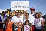 Team Costa Rica With ISA President. Credt: ISA / Rommel Gonzales
