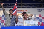 Sunny García and Rochelle Ballard (HAW). Credt: ISA / Rommel Gonzales