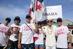 Team Panama With ISA President Fernando Aguerre. Credt: ISA / Rommel Gonzales